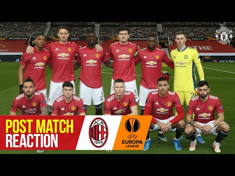 Solskjaer & Maguire react to Milan draw | Manchester United 1-1 AC Milan | UEFA Europa League
