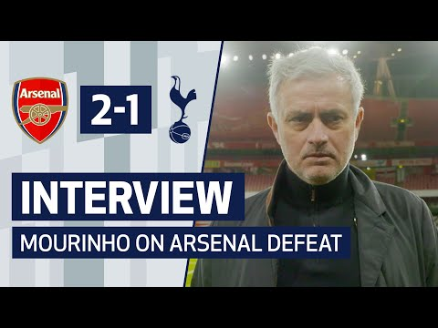 """""""We deserved a point for what we did in the last 20 minutes""""   JOSE MOURINHO ON ARSENAL DEFEAT"""
