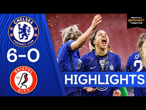 Chelsea 6-0 Bristol City | Kerr Hat Trick Fires Blues to Trophy! | Women's Continental League Cup