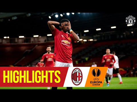 Amad Scores First Goal in Milan Draw | Manchester United 1-1 AC Milan | UEFA Europa League