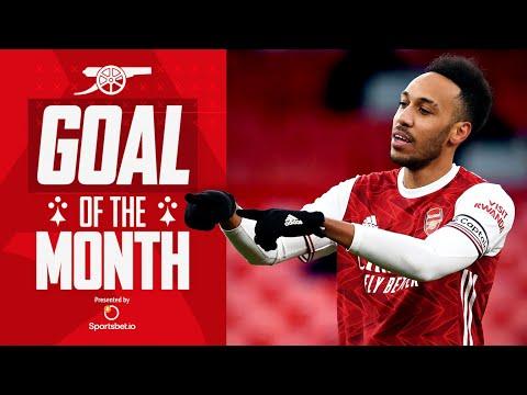 Who scored Arsenal's best goal in February? | Aubameyang, Saka, Foord, Pepe, McCabe, Tierney