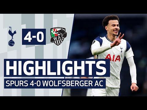 Dele Alli scores OUTRAGEOUS bicycle kick! HIGHLIGHTS | SPURS 4-0 WOLFSBERGER AC | UEFA Europa League